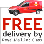Free delivery by Royal Mail 2nd Class