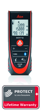 DISTO D2 Bluetooth with Leica Protect Lifetime Warranty. Next day delivery.