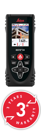 DISTO X4 with Leica Protect Lifetime Warranty. Next day delivery.