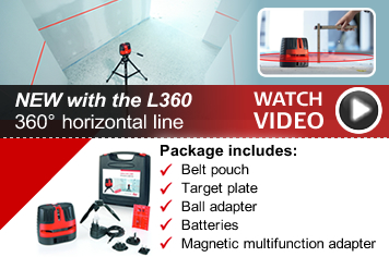 Leica Lino L360 - with 360° horizontal video - watch the video